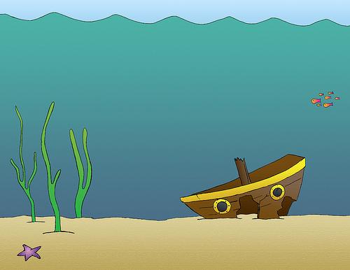 Underwater ocean clipa...