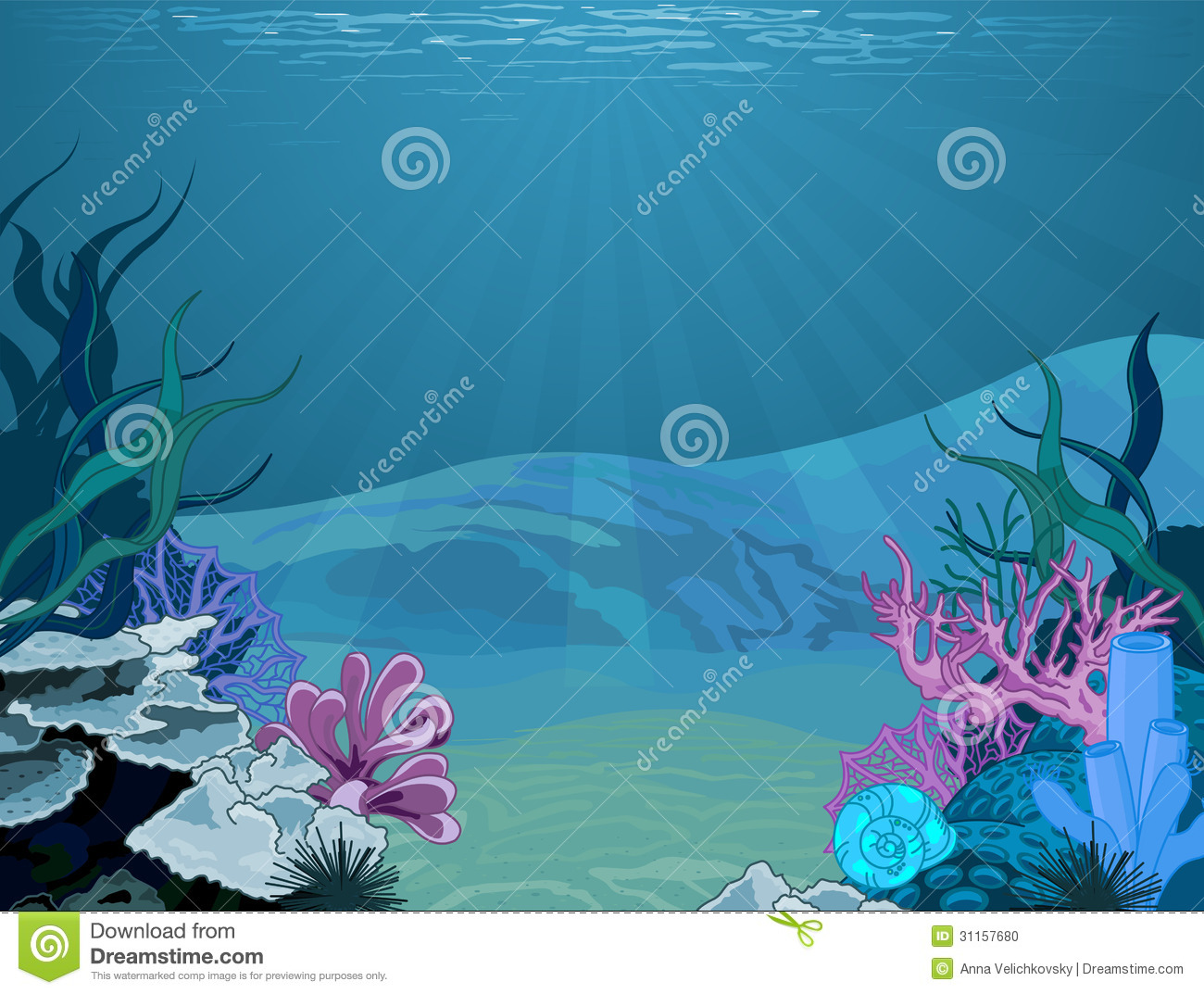 Underwater clipart background.