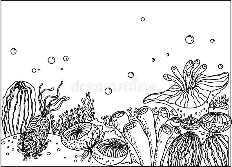Underwater Background Clipart Black And White.