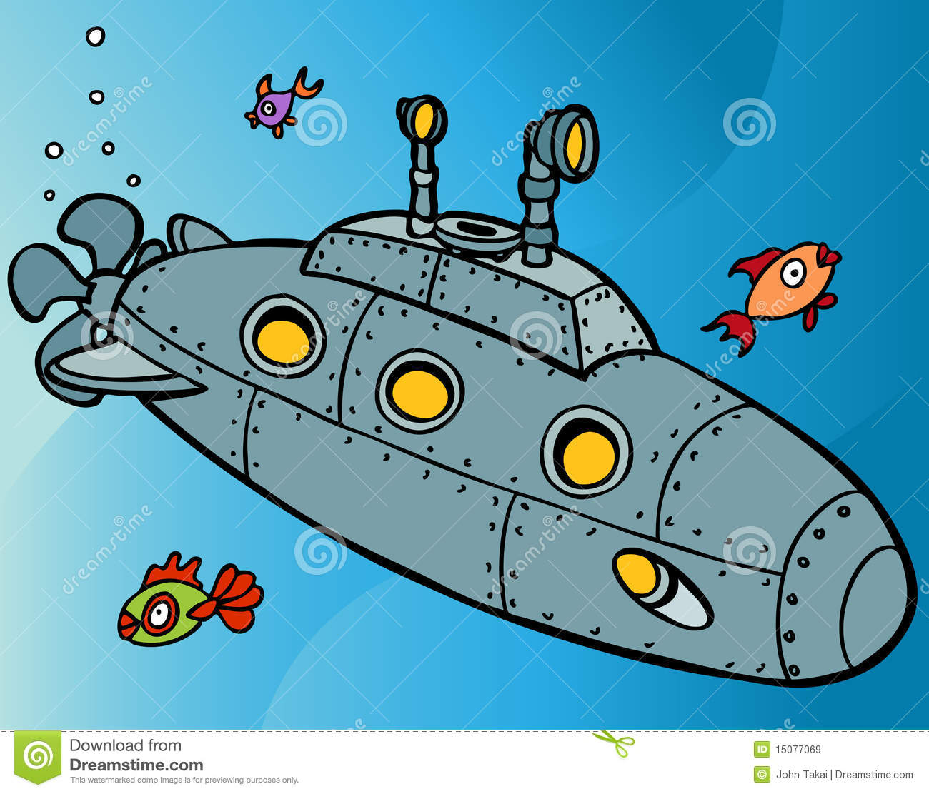 Underwater Submarine Clipart.