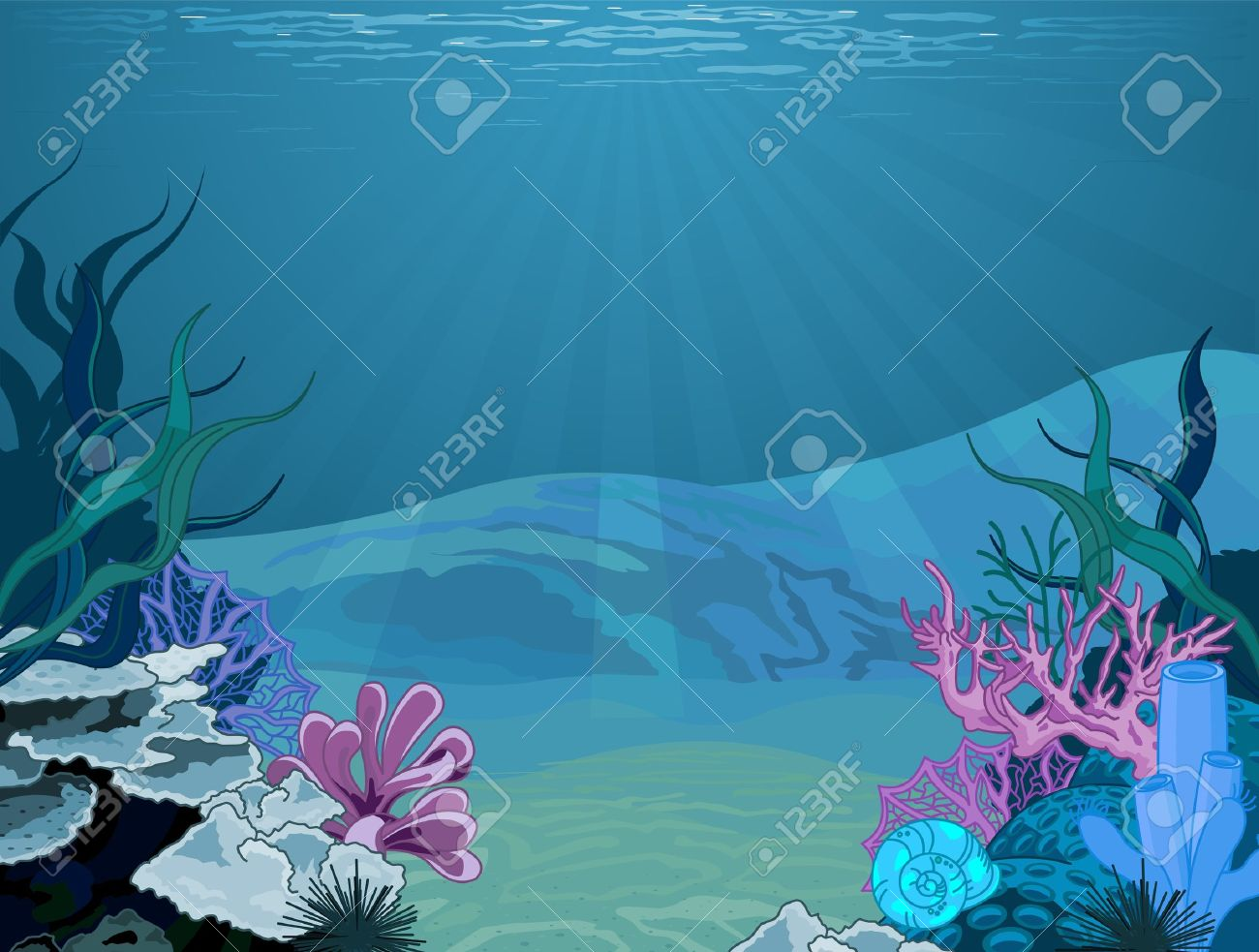 2,098 Underwater Scene Stock Vector Illustration And Royalty Free.