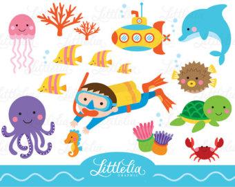 Underwater clip art.