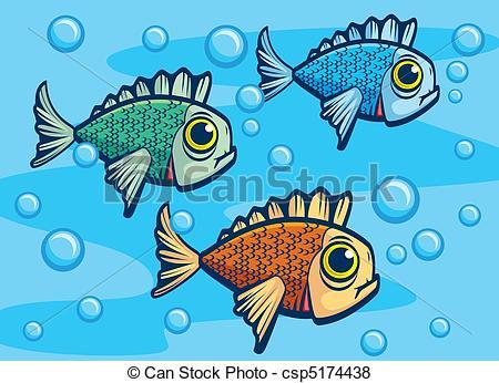 Vector of Fish Underwater.