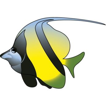 Vector Yellow Fish Clipart.