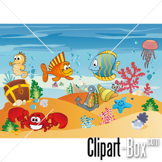 CLIPART UNDERWATER LIFE.