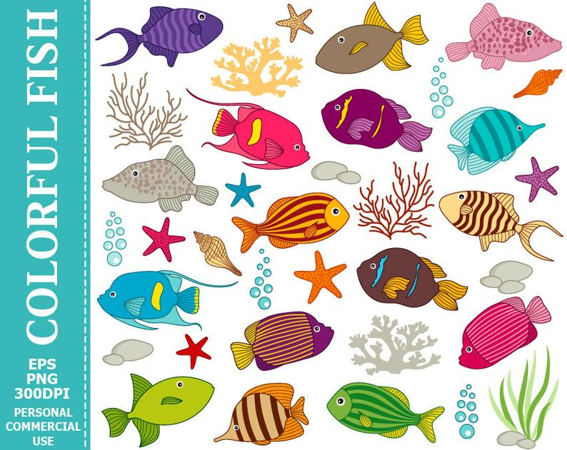 Underwater fish images clip art Transparent pictures on F.