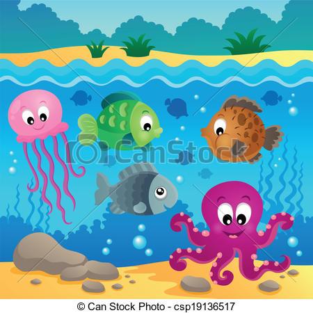 Ocean Underwater Clipart.