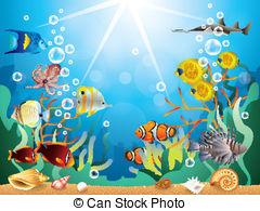 Underwater world Illustrations and Clip Art. 2,019 Underwater.