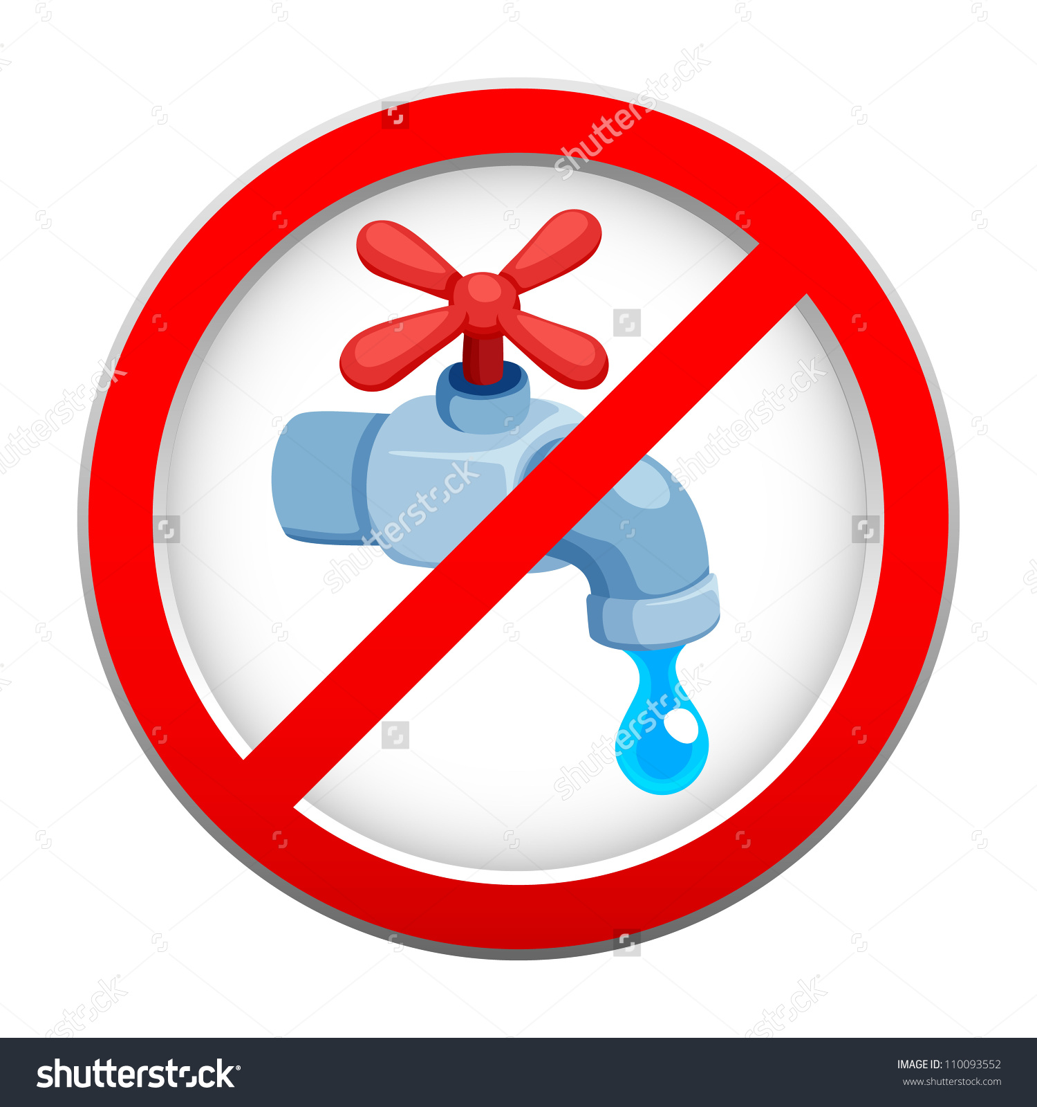 Save Water Sign Stock Vector 110093552.