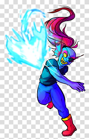 Undyne transparent background PNG cliparts free download.