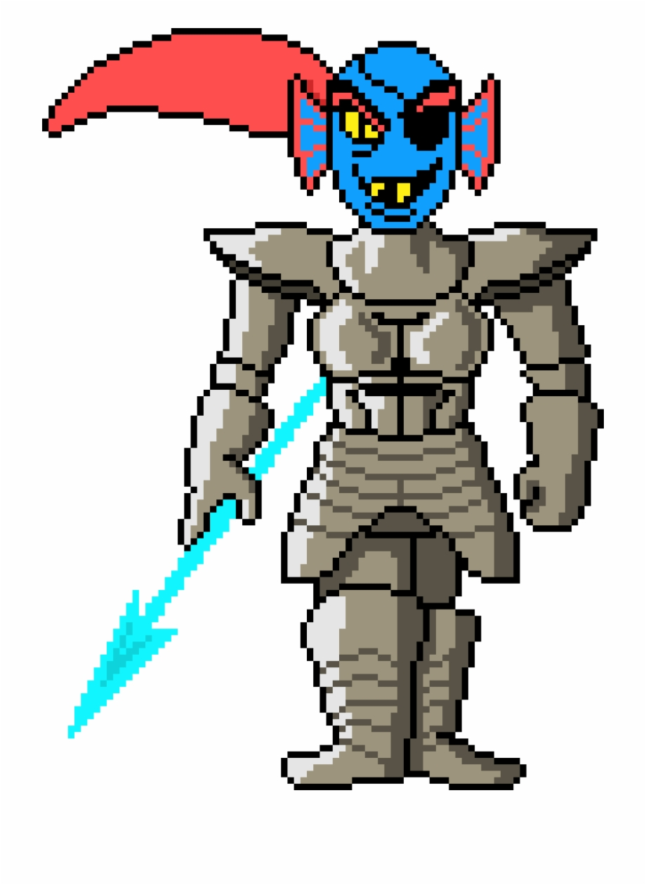 Undertale Undyne (transparent).