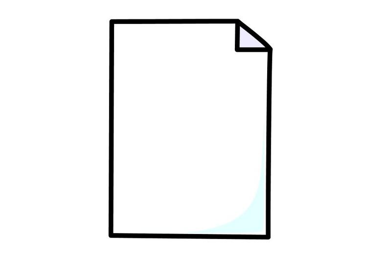 Coloriage une feuille de papier.