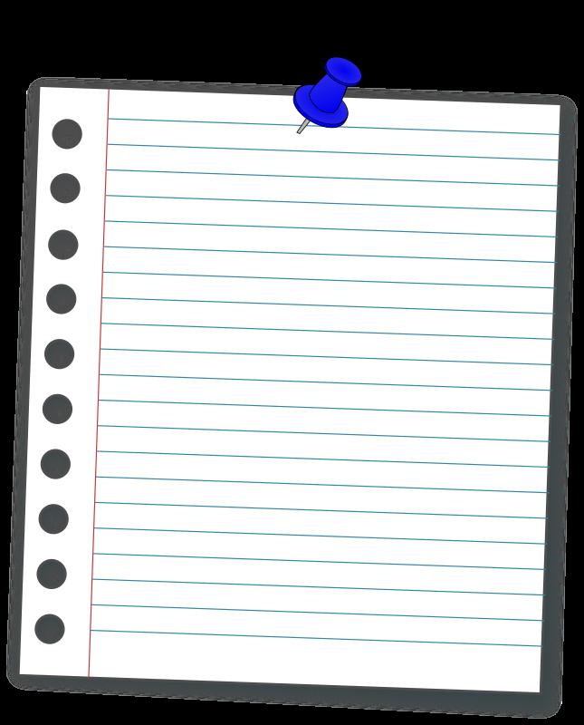 Notebook Cartoon clipart.