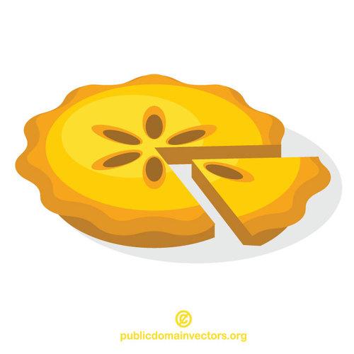 Image clipart vectoriel tarte aux pommes.
