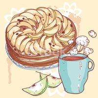Illustration Vectorielle D\'une Tarte Aux Pommes images.