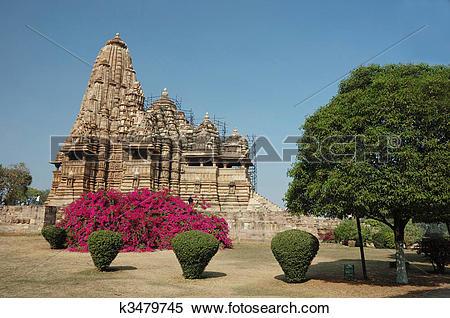 Stock Image of Hindu temples at Khajuraho.