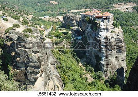 Stock Photo of Holy Monastery of Varlaam,Meteora,Greece,unesco.