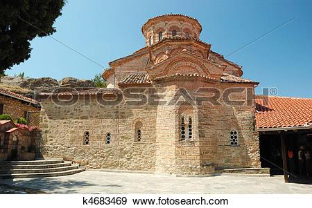 Stock Photograph of Church of Roussanou monastery,Meteora,Greece.