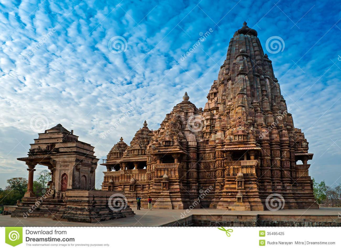 Kandariya Mahadeva Temple, Khajuraho, India,UNESCO Heritage Site.