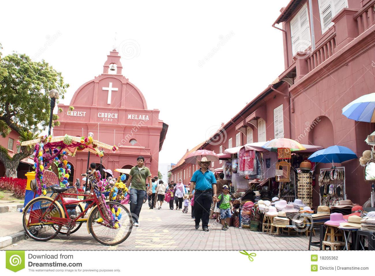 Malacca Malaysia A UNESCO World Heritage Site Editorial.