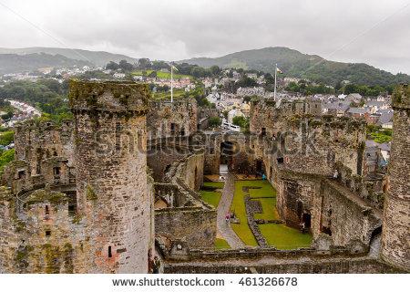Conwy Castle Stock Photos, Royalty.