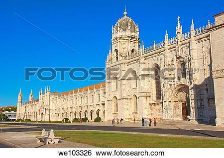 Stock Images of Hieronymites Monastery (Mosteiro dos Jeronimos.