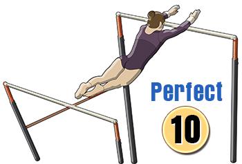 Gymnastics uneven bars clipart.