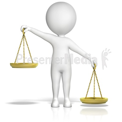 Figure Holding Justice Scales Uneven Rt.