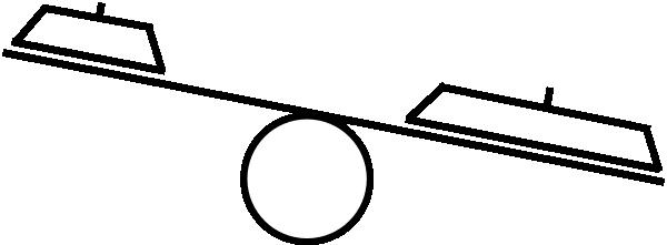Uneven Balance Scale Clipart.
