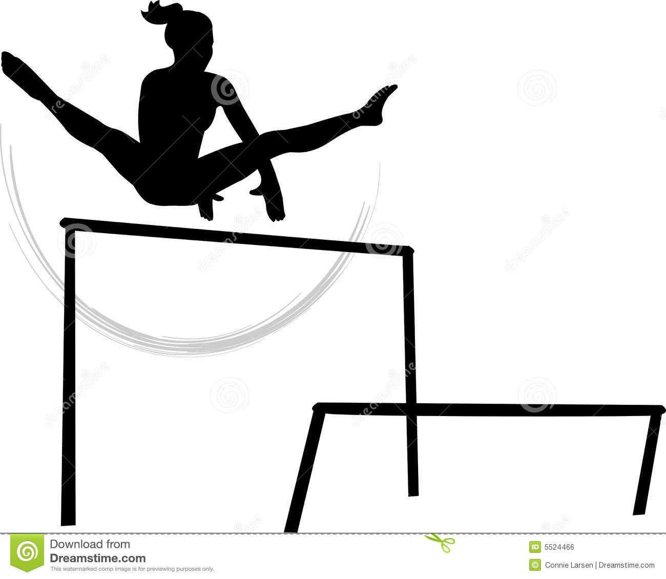 Gymnastics Bars Clipart.