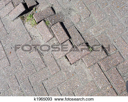 Stock Photo of Uneven Bricks k1965093.