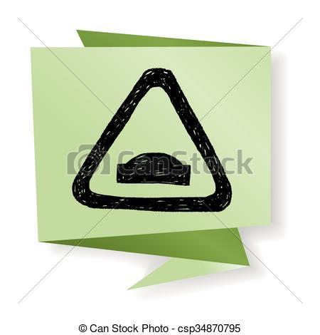 EPS Vectors of Uneven road doodle csp34870795.