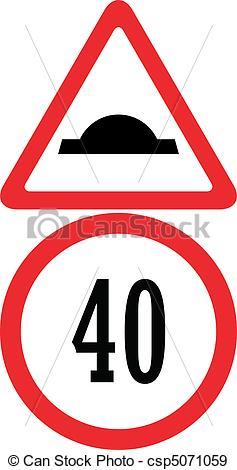 EPS Vectors of uneven road traffic sign color vector illustration.