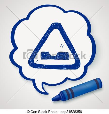 Clipart Vector of Uneven road doodle csp31528356.