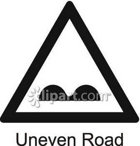 and White Uneven Road Sign.