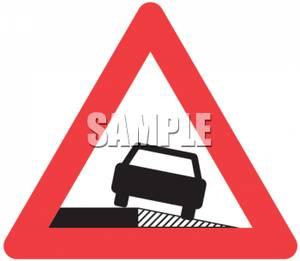 Uneven Road Caution Sign.