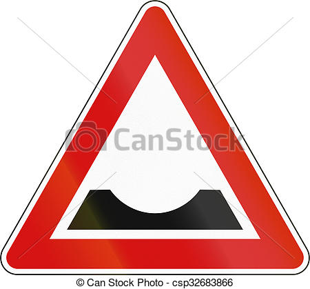 Stock Illustration of Slovenian road warning sign.