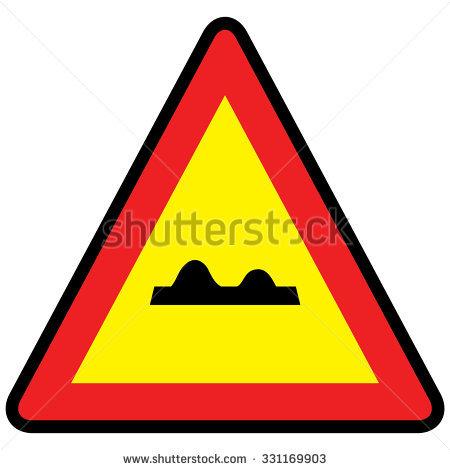 Uneven Road Sign Stock Vector Illustration 331169903 : Shutterstock.