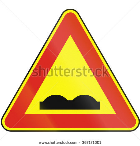 """""""uneven Road Sign"""" Stock Photos, Royalty."""