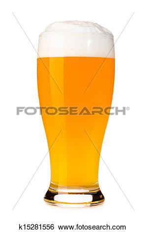 Stock Images of fresh unfiltered beer k15281556.