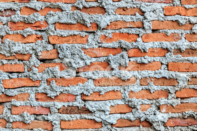 Unfinished Brick Wall, Close UP Stock Photos.