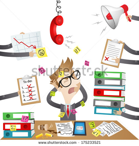Clip Art Stressed Out Girl Clipart.