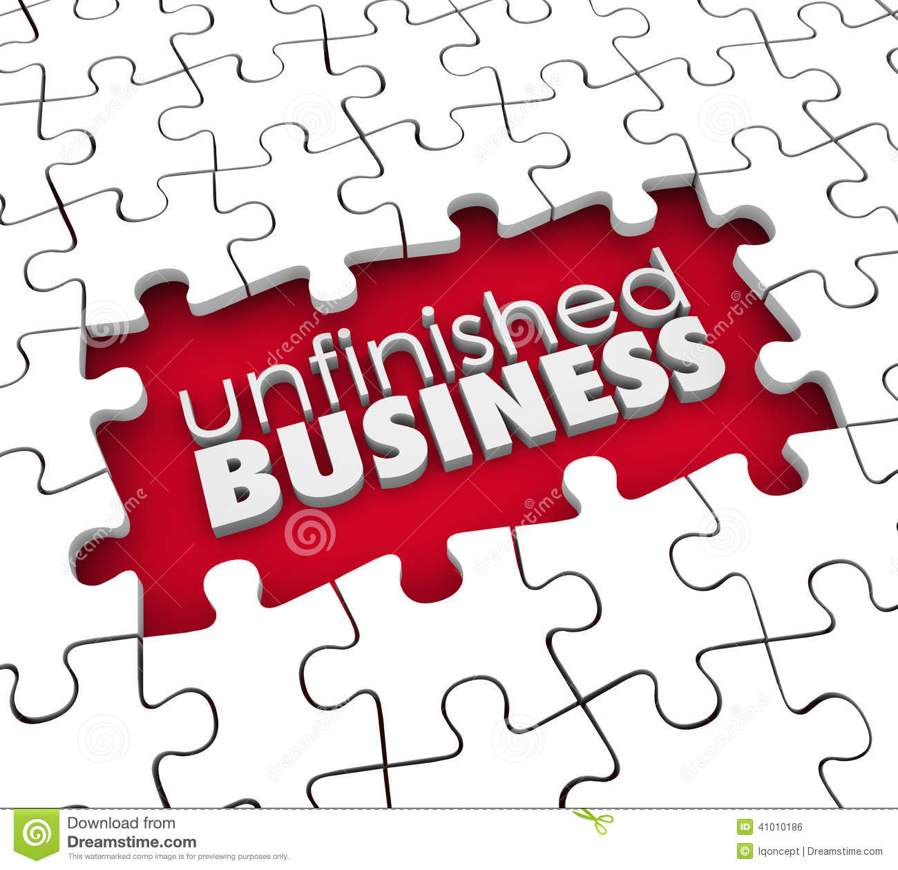 Unfinished business clipart.