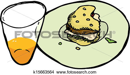 Clipart of Unfinished Meal k15663564.