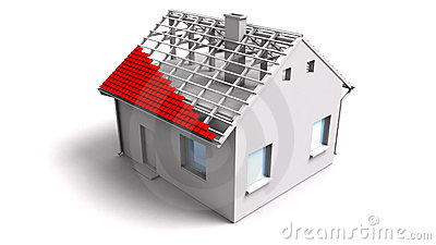 3d Unfinished House Stock Photos.