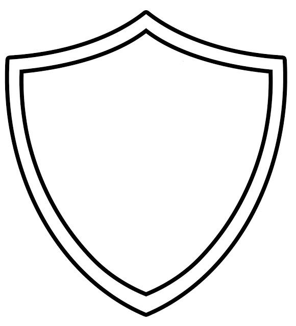 Shield Outline Clipart.