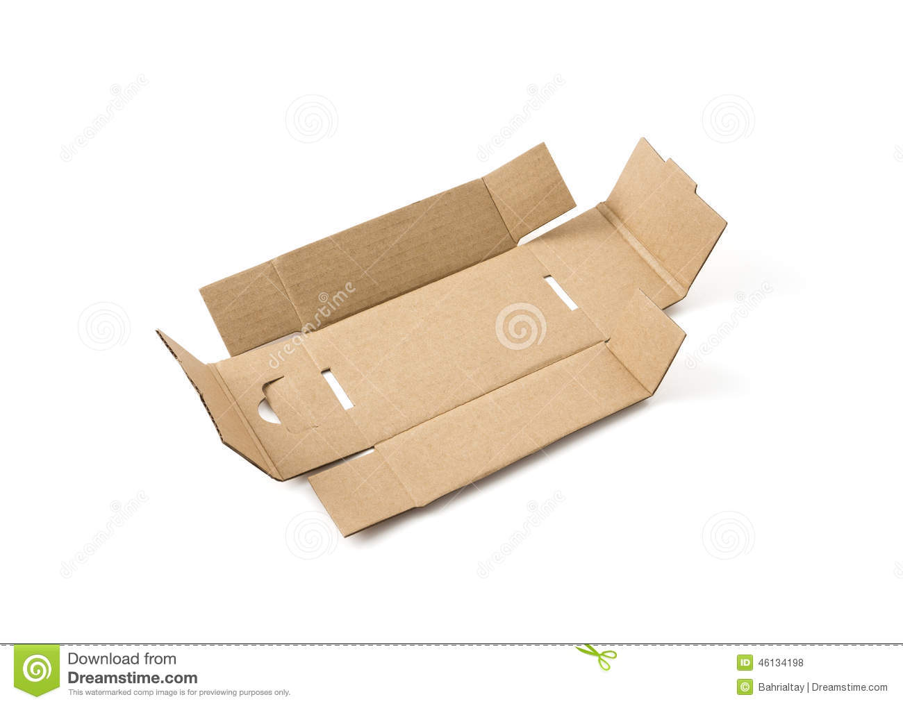 Unfolded box clipart.