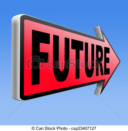 Clip Art of bright future.