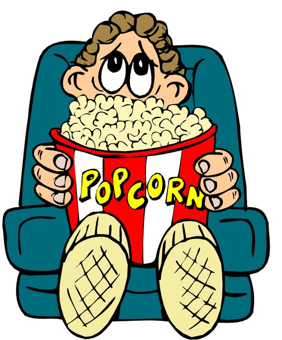 Watching Movie Clipart Images & Pictures.