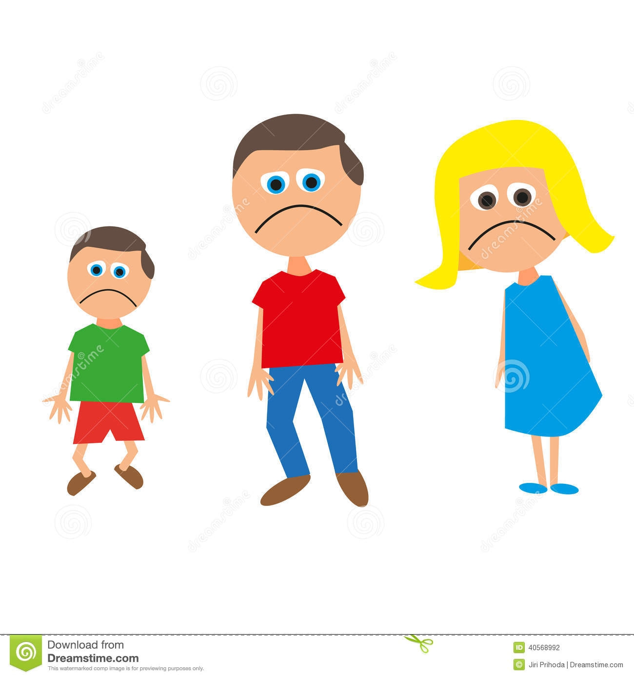 Unhappy family clipart 6 » Clipart Station.